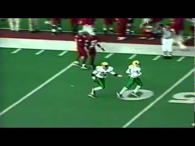 Oregon WR Damon Griffin 38 yard catch on first play of game vs. WSU 10-10-98