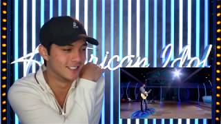 Laine Hardy REACTS To His First Audition - American Idol 2019 on ABC