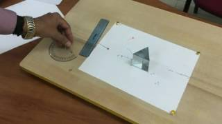 Path of refracted light through glass prism-Prakash & Faisal