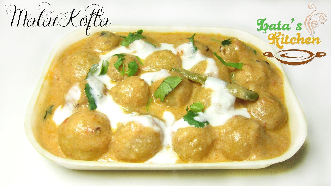 Malai kofta recipe indian vegetarian recipe video in for V kitchen restaurant vegetarian food