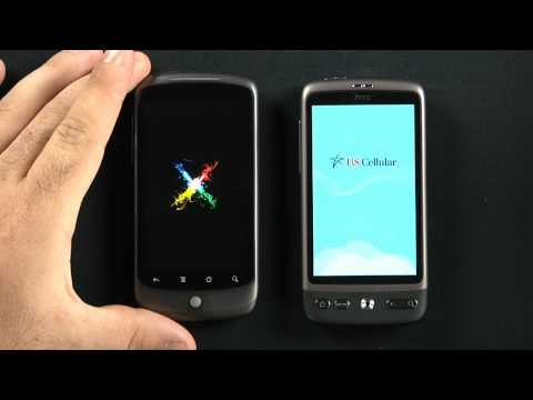HTC Desire vs HTC Nexus One Boot Time