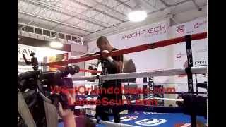 W.B.A. Super Welterweight Boxing Champion Miguel Cotto's Media Day Workout (Orlando, FL) 4-17-2012.