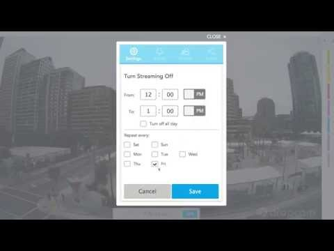 Using Dropcam: Camera and Alerts Scheduling