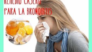 Un Zumo Para la Bronquitis, Remedio Casero para la Tos