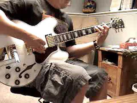 Rush, Hemispheres guitar cover on Alex Lifeson ES 355
