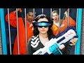 NERF Robot Prison Team Escape Challenge!