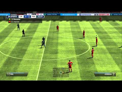FIFA 13 Wii U Online Gameplay, Liverpool vs Real Madrid
