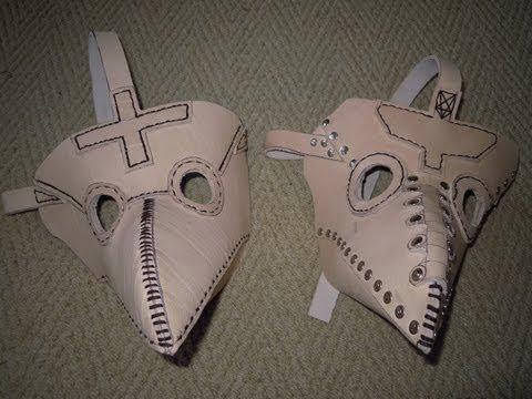 Чумной доктор маска из бумаги - Онлайн курсы