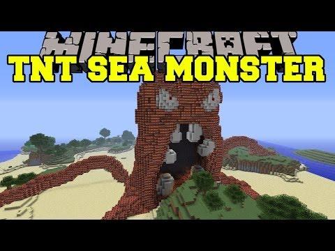 Minecraft: Evil Sea Monster Vs Tnt - Build Creation - Map video
