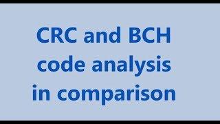 DSH BCH CRC code analysis