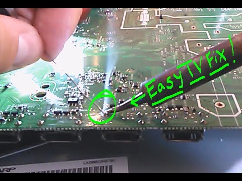 How to fix lcd lines on Sharp tv screen. hdmi video board repair
