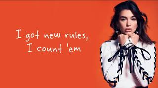 Dua Lipa - New Rules  Lyrics