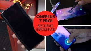 OnePlus 7 Pro BEST Curved Tempered Glass 🔥 Full Glue, Edge To Edge Transparent Glass