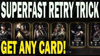 MKX Mobile Glitch. GET DESIRED CARD FROM ANY PACK! No reinstall method. (NEW 2016)