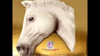 Kricky Cakes Decoration: Realistic Horse cake with airbrush 1080p