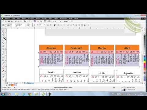 Como fazer um calendário com Corel X6