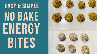 No Bake Energy Bite Recipes At home||HowTo Make Healthy Energy Bites||Healthy Snacks(Low Carb,Sugar)