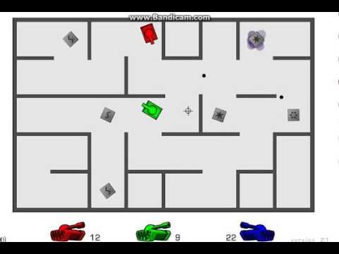 Игра Танки на троих в лабиринте - играть онлайн