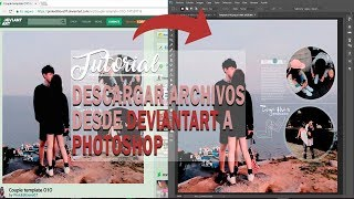 TEMPLATE; DE DEVIANTART A PHOTOSHOP - TUTORIAL | Pink editions
