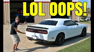 Hellcat Muffler Delete Is CRAZY LOUD!