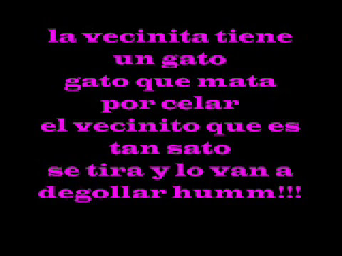LA VECINITA  VIDEO CON LETRA (OFFICIAL)