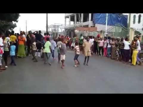 Manifestation de joie dans les rues de Conakry