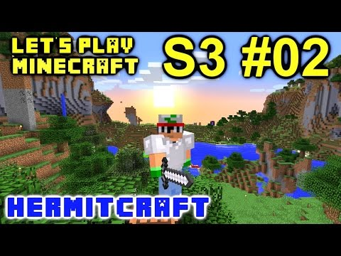 Minecraft Amplified Survival Ep. 2 - Hunt for Resources !!! ( Hermitcraft Server )