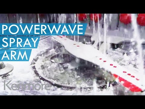 kenmore 14543. powerwave spray arm- new kenmore dishwasher cleaning feature 14543