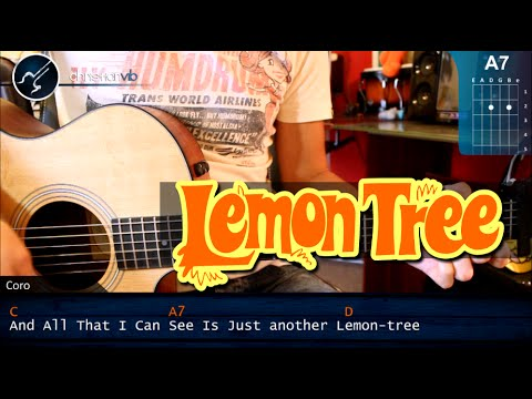 Como tocar LEMON TREE Fool´s Garden en Guitarra Acustica HD Tutorial COMPLETO