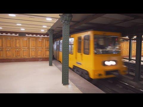 Hungary, Budapest, Metro ride from Hősök tere to Széchenyi Fürdő + walk