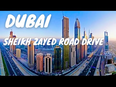 Amazing Dubai City Drive Sheikh Zayed Road Jumeirah *HD*