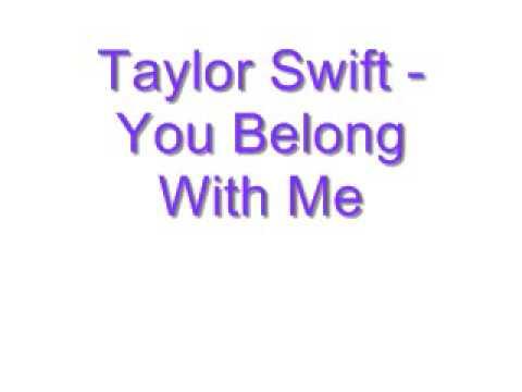 Taylor Swift - You Belong With Me Lyrics