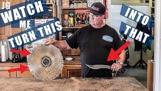 Turning A Saw Blade Into A Knife | JIMBOS GARAGE