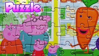 Peppa Pig Puzzle Games Jigsaw Toys For Kids Rompecabezas Peppa puzzles Learning Video 2016