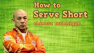 How to Serve Short with Side Spin in Table Tennis