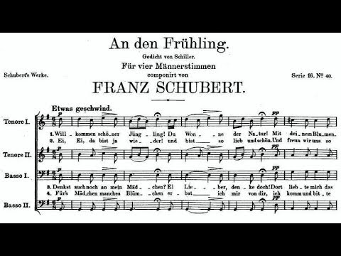 Шуберт Франц - An den Frühling, D338