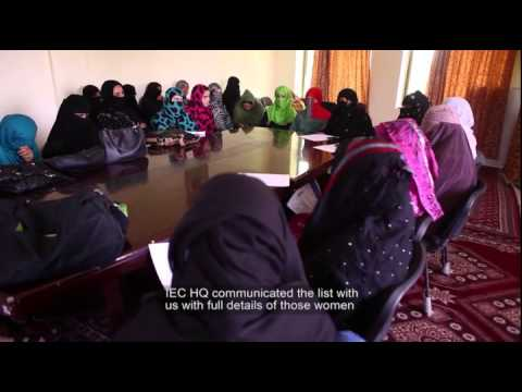 ACSEN: Supporting Afghan Women - 2014 Elections (Eng Sub)