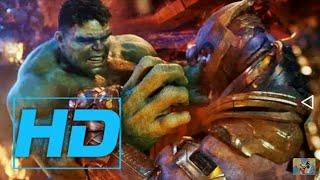 Hulk vs Thanos Avengers Infinity War HD 1080P