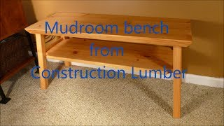 Mudroom Bench from 2x lumber