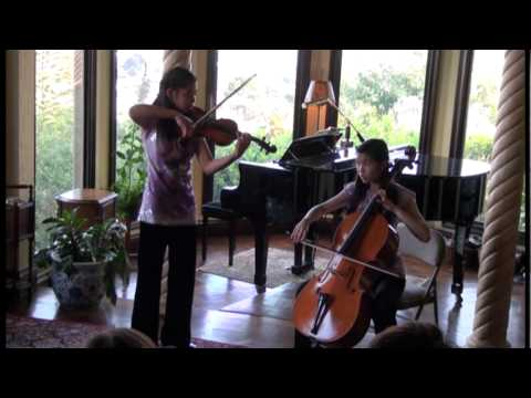 Handel - Halvorsen Passacaglia for Violin and Cello performed by the Tsai Duo