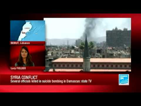 Syrian officials killed in suicide bombing (Syrian state tv)