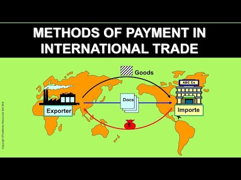 methods of payment in international trade Chapter 1: methods of payment in international trade this chapter is also available via download in pdf format to succeed in today's global marketplace and win sales against foreign competitors, exporters must offer their customers attractive sales terms supported by the appropriate payment methods.
