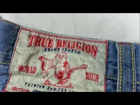 REAL VS. FAKE - comparison TRUE RELIGION Jeans