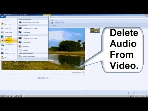 Windows Movie Maker Tutorial Windows 7 - Beginners: How to Remove ...