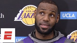 LeBron James talks Lakers debut and studying NBA preseason games around the league | ESPN