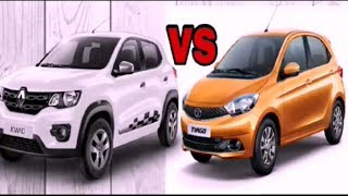 Renault KWID vs Tata Tiago Comparison
