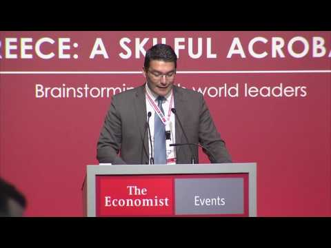 Konstantinos Xifaras at The Economist 20th Greek Government Roundtable Discussion
