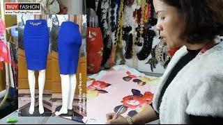 Thiết kế chân váy bút chì tại Thời Trang Thuỷ - Design Pencil Dress