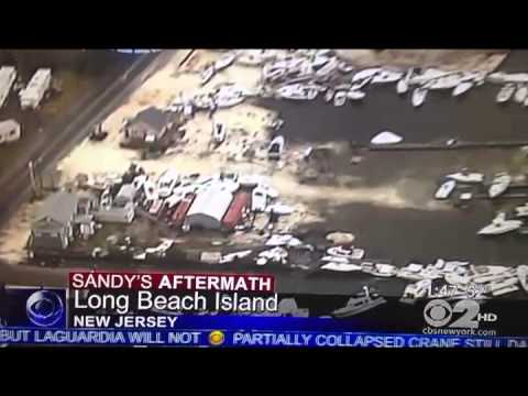 Tuckerton, NJ - Aerial View of Devastation from Hurricane Sandy