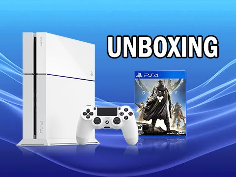 PlayStation 4 Glacier White Destiny Bundle Unboxing (PS4 First Impressions + Review)